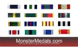 LONG SERVICE & MERITORIOUS SERVICE MEDAL RIBBONS